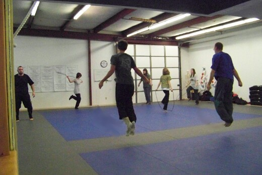 Jump-rope during calisthenics at the end of our classes
