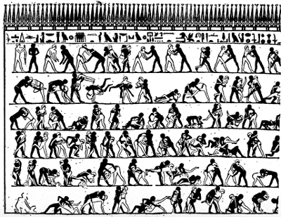 Egyptian Wrestling
